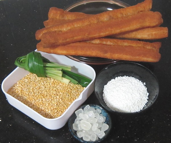 Ingredients for Green Split Beans with Pearl Sago Dessert Recipe
