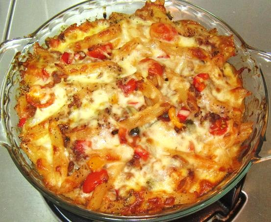 Baked Beef Penne with Mozzarella Cheese Recipe